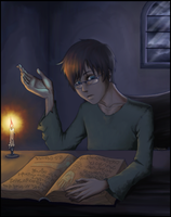 Late Night Study by AnArtistCalledRed