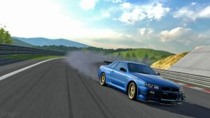 BNR34 SKYLINE GT-R on GT5 by zsdg07