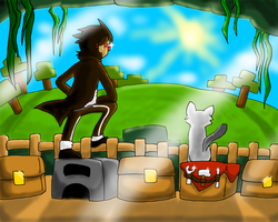 Toward New Horizons - CaptainSparklez Speedart by Hokyokkugitsune