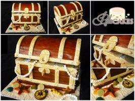 Pirate box cake by PetuHikari