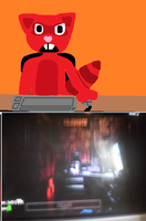 Wheatley playing Five Nights at Freddys by HTFBlueFan2012