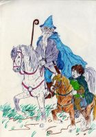 Gandalf and Frodo by natoth