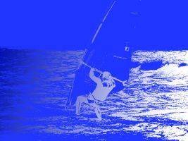 my father windsurfing by haighy