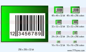 Bar-code Icon by security-icon-set