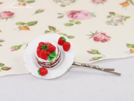 Berry dessert Polymer clay, handmade by OrionaJewelry