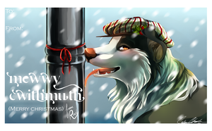 Christmas greeting card! +SPEEDPAINT! by Capukat