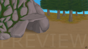 Cave Bg view 1-PREVIEW by Jenny2-point-0