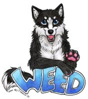 Weed badge by Zerwolf