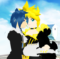 MMD Newcomer Len in a Dress by Angellbaby
