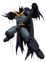 mazinger-batman colored by shalomone