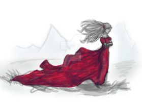 Red Dress by LittleArtistRen-Ren