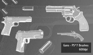 Guns - 300-600 DPI by screentones