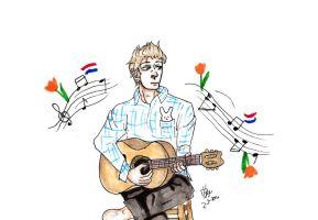 Netherlands playing guitar by Dutch-Loves-Tulips94
