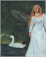 Swan Fairy by Katerina-Art