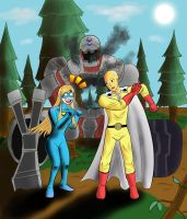 Empowered and Saitama by Maxis-Geryon