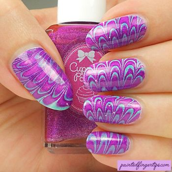 Cupcake-polish-water-marble by Painted-Fingertips