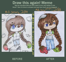 Draw This Again Meme - Arting Chibi (Completed) by HoliMooTaku