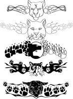 Cougar Tattoo Designs by Samoht-Lion