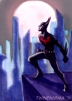 Batman Beyond Art Card by TwinEnigma