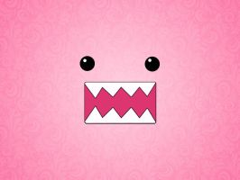Wallpaper DOMO pink by nataschamyeditions