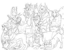 The Gangs All Here by LaughingZoroark