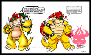 Bowsers good looks feud again by Bowser2Queen