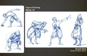 Gesture Drawings - Week 14 by Arashocky