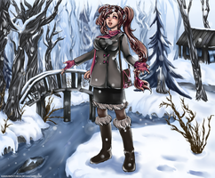 Hello Winter (commission) by hotbento