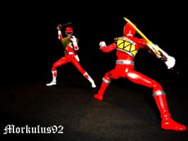 Who will win ?  Kyoryu Red? by Morkulus92