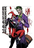 Joker and Harley by RecklessHero