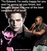 Edward Cullen vs Kanye West by Kairi-V