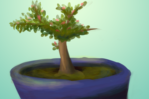 Potted plant [speed] by Bluewyrm