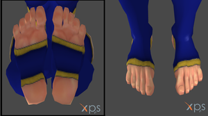 Omega Chun-Li's Toes and Soles. by 3DFootFan