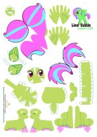 Lime bubble papercraft by Kna