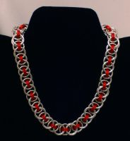 Red Helm Chain Necklace by WaistedSpace