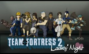 Team Fortress 2: Ladies Night by TheDelphina