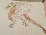 Wings of Fire AU: Evergreen (Dragon form) by LunaTheDragonBunny