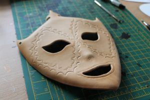 Black Butler/Kuroshitsuji leather mask - WIP by Masktastic