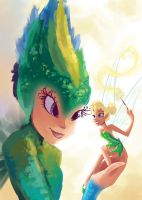Tooth Fairy and Tinker Bell Unite by My-Magic-Dream