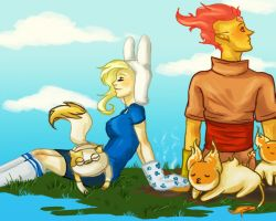 Flame Prince And Fionna by bakerofcookies