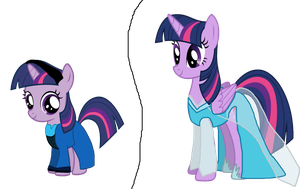 Disney Frozen crossover Twilight Sparkle as Elsa by Dulcechica19