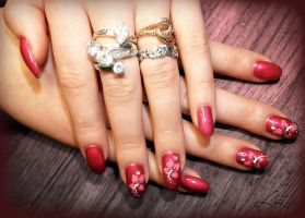 Flower Gel Nails by Undomiele