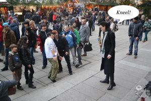 LOKI Cosplay in the REAL Stuttgart 06 - KNEEL! by Mon-Kishu