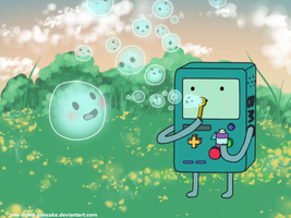 BMO And Bubble by One-Sided-Pancake