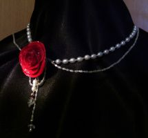 Solitary Rose necklace by Oniko-art