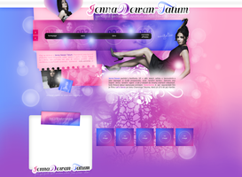layout ft. Jenna Dewan Tatum by PixxLussy