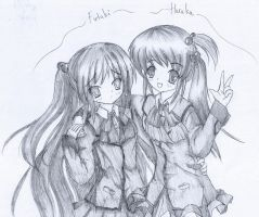 Little Busters: Haruka and Futaki by Kudo008
