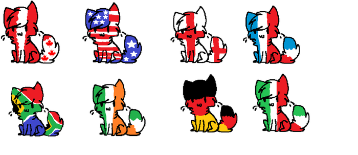Country Cat Adoptables by boonfish