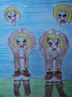 Armin And Christa Body Sawp by BubbleIce720