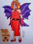 Adagio Dazzle as Vampire by clubpenguin1